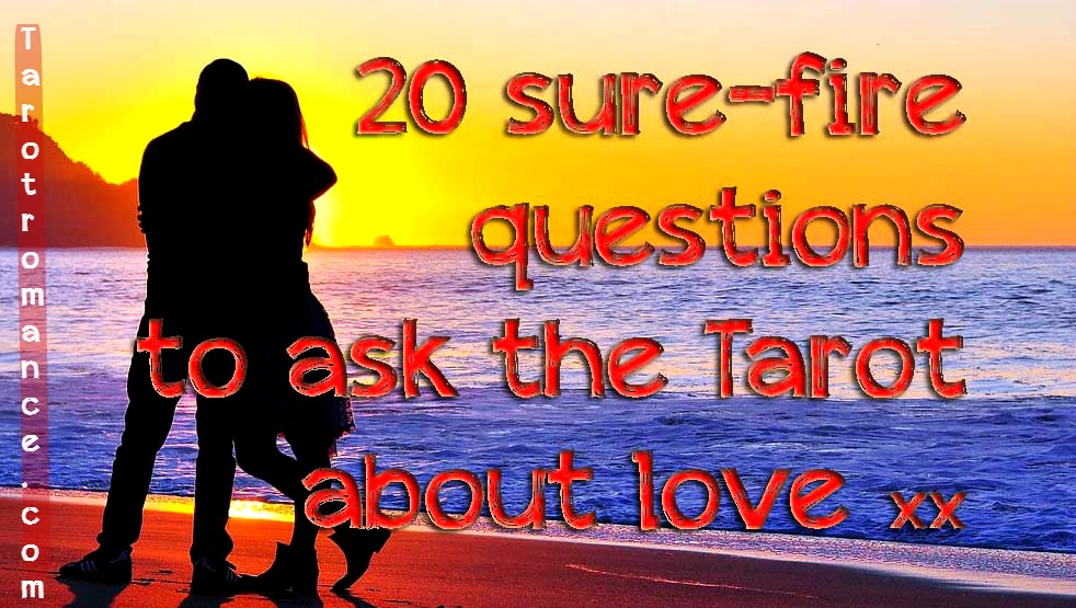 20 sure-fire questions to ask the Tarot about love! Here are 10 questions to ask the Tarot about love for in-depth Tarot readings, followed by 10 questions to ask the Tarot about love for YES/NO quickies. Plus six WINNING Tarot spreads for love! #love #tarot #tarotquestions #tarotspreads #romance