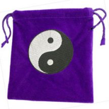Purple Yin Yang Tarot Bag