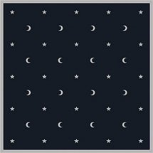 Moon & Stars Velvet Tarot Cloth